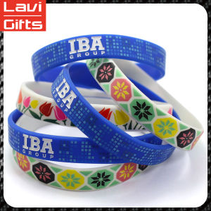 Pretty and Colorful Custom Silicone Rubber Bracelet pictures & photos