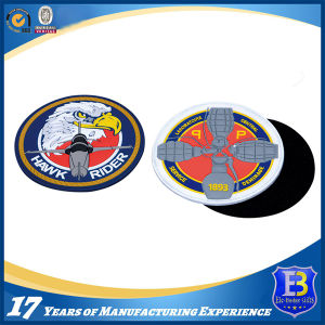 Custom Embossed Police Rubber Patches with Magic Tape Backing pictures & photos