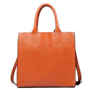 Women Designer PU Leather Handbag Plain Tote Shoulder Bag pictures & photos