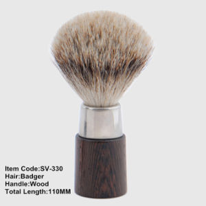 Good Quality Badger Hair Wooden Handle Cosmetic Makeup Face Shaving Beard Brushes pictures & photos