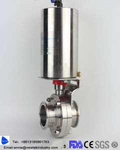 Sanitary Pneumatic Butterfly Valves Stainless Steel 304 pictures & photos