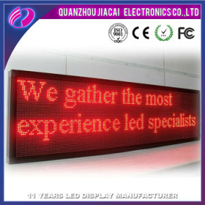 P10 Single Red Color Outdoor Programmable LED Signs pictures & photos