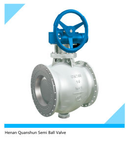 Eccentric Hemisphere Ball Valve for Soda Crystallization Pipeline pictures & photos