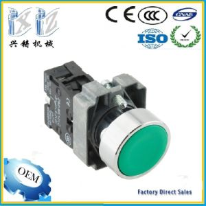 Xb2-Ba31 Green Color 22mm Spring Return Momentary Flush Push Button Switch pictures & photos