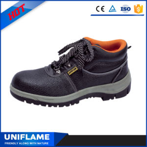 Men Leather Steel Toe PU Sole Safety Working Shoes Ufb010 pictures & photos