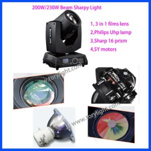Stage Event Equipment 230W Sharpy Beam Moving Head Light pictures & photos