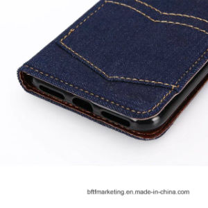 Jeans Canvas Classic Wallet Cell Phone Case for iPhone 8/8plus pictures & photos
