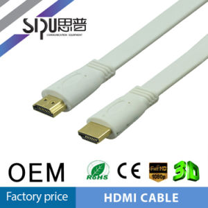 Sipu 1.4V Flat HDMI Cable Wholesale Gold Connector Computer Cable pictures & photos