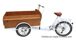 E Trike with Wooden Box for Transporting pictures & photos