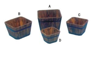 Special Designed Small Wooden Flower Pot pictures & photos