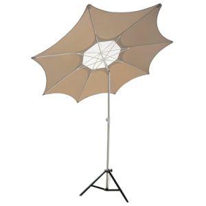 Telescope Adjustable Height Fiberglass Rib Beach Patio Umbrella with 2 Sand Anchors pictures & photos