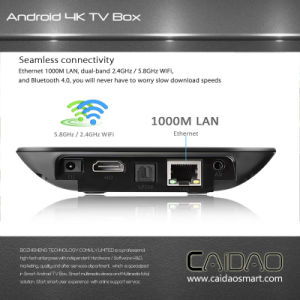 Best Android 6.0 /Android 7.0 TV Box 2GB RAM 16GB ROM Caidao PRO Amlogic S912 Octa Core S912 Smart TV Box Ott TV Box pictures & photos