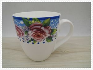 14 Oz Flower Surface Ceramic Mug pictures & photos