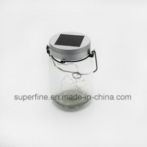 Shine Glittering Decoration Solar Transparent Jar Firefly LED Lights for Holiday pictures & photos