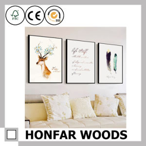 Modern Black Wood Painting Poster Frame for Hotel Guest Room pictures & photos