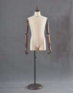 New Male Half Body Mannequin with Linen Wrapped