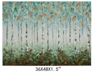 China Made 100% Handpainted Canvas Tree Art for Wall Decoration (811702102) pictures & photos