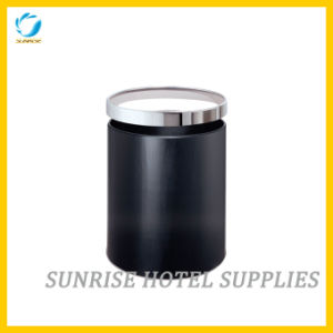 Black Metal Waste Paper Basket for Hotel pictures & photos