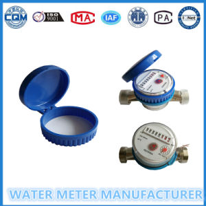 Black Nylon Shell Single Jet Household Flow Water Meter pictures & photos