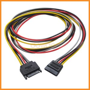 SATA 15-Pin Male to Female Power Extension Cable with 12V/5V/3.3V Power Cable 1m pictures & photos