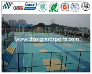 Crystal Basketball Court with Marking Line Under Wear Resisting Layer pictures & photos