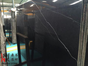 Black Natural Stone Nero Marquina Marble Slabs for Flooring Tiles/Wall Cladding pictures & photos