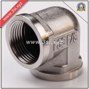 ANSI B16.11 Stainless Steel 90 Degree Threaded Elbow (YZF-E503) pictures & photos
