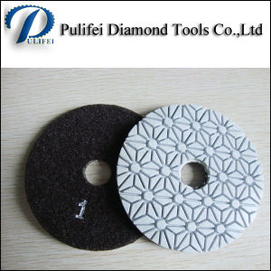 100mm 3 Steps Wet Polishing Pad for Stone pictures & photos