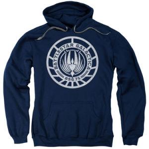 Men Black Pullover Fleece Sweatshirt (A553)