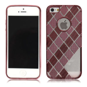 Square Lattice Electroplate Soft Gold Armor Mobile Phone Case with TPU (XSDD-017)
