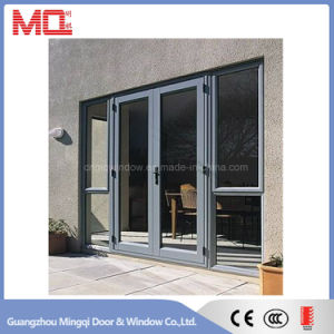 Black Color Aluminum Swing Door Unequal Double Door pictures & photos