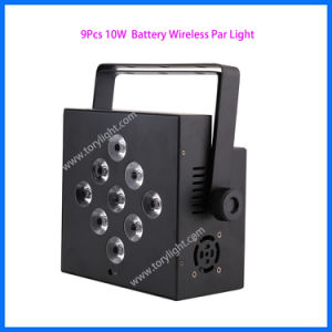 LED Stage Light 9 PCS Battery Flat Wireless PAR pictures & photos