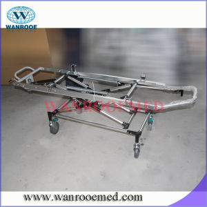 Ea-4A Hospital Patient Folding Emergency Bed with Transfusion Pole pictures & photos