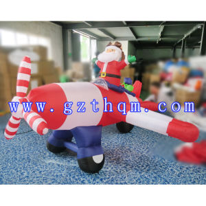 Inflatable Santa Claus in Airplane for Fun/Christmas Inflatable Snowman pictures & photos
