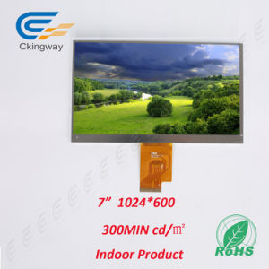 "7"" 1024*600 40 Pin Lvds Interface LCD Display Module pictures & photos"