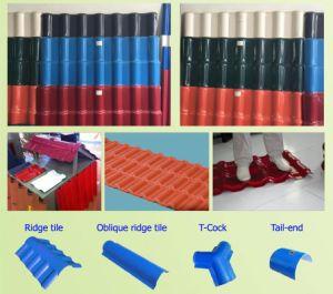PVC+ASA Glazed Tile Extrusion Machine pictures & photos