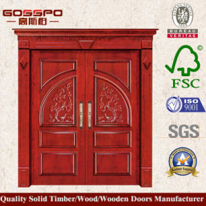 Gate Solid Timber Double Entrance Door (XS1-006) pictures & photos