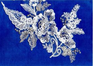 Manufacture Rayon Corded &Beaded Wedding Lace Fabric pictures & photos