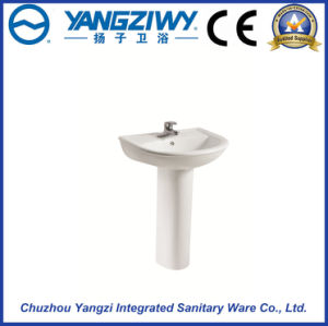 Sanitary Ware Ceramic Products Wash Basin with Pedestal pictures & photos