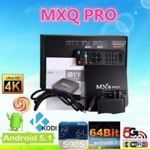 Quad Core 1g+8g Mxq PRO Android 4.4.2 Amlogic S905 TV Box pictures & photos