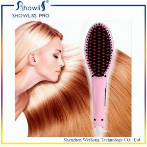 Private Label Flat Iron Hot Hair Brush Hair Straightener