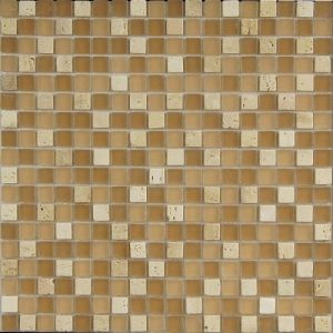 Light Yellow Color with White Color Mosaic Tile pictures & photos