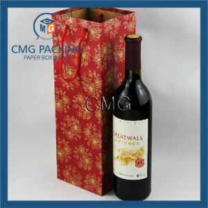 Custom Paper Wine Bag with Logo Print pictures & photos