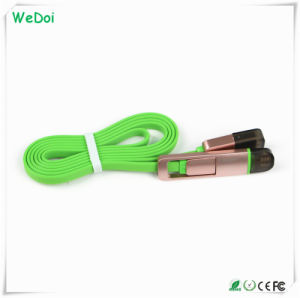 Hot Selling 2 in 1 USB Data Charging Cable with Low Cost (WY-CA02) pictures & photos