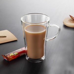 10oz Borosilicate Glass Water Drinking Glass Cup Double Wall Glass Coffee Cup pictures & photos