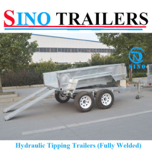 Galvanized 12*6 Hydraulic Tilting Trailer with Electric Brake