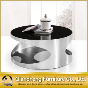 Black Tempered Glass Coffee Table pictures & photos