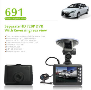 2.8 Inch Front Camera Car DVR (DVR-690) pictures & photos