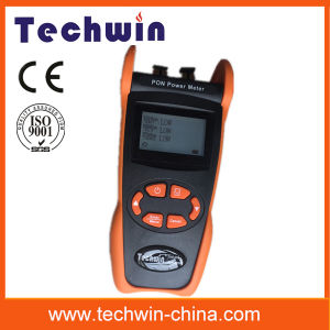 Techwin New Pon Optical Power Meter Tw3212e Measure 1490nm, 1550nm, 1310nm Wavelength on The Fiber pictures & photos