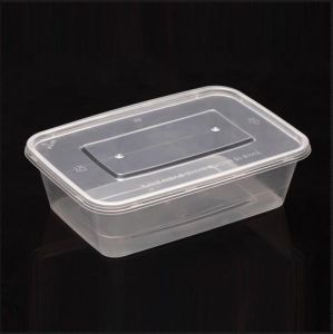 Food Grade Transparent Disposable Food Storage Container with Lid pictures & photos